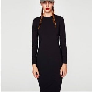 New with tags. Zara long sleeve midi dress.